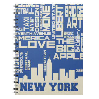 New York City Typography Poster Notebook