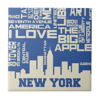New York City Typography Poster Tile