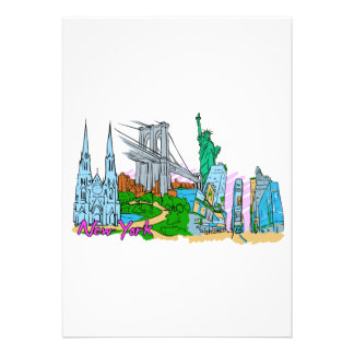 New York City - United States of America png Personalized Invites