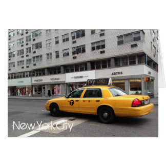 New York City Upper East Side Yellow Taxi Cab NYC Card
