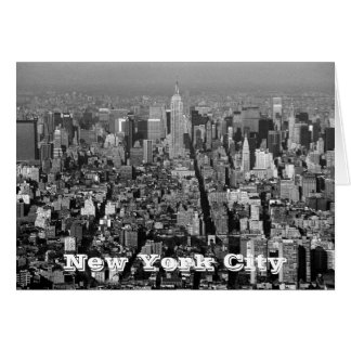 New York City USA skyline 1987 Card