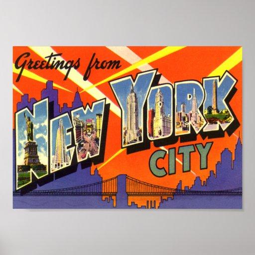 New York City Vintage Poster