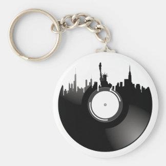 New York City Vinyl Record Key Ring