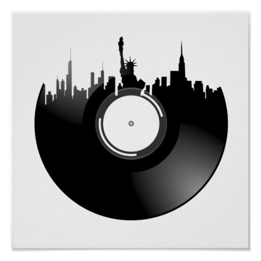 New York City Vinyl Record Posters
