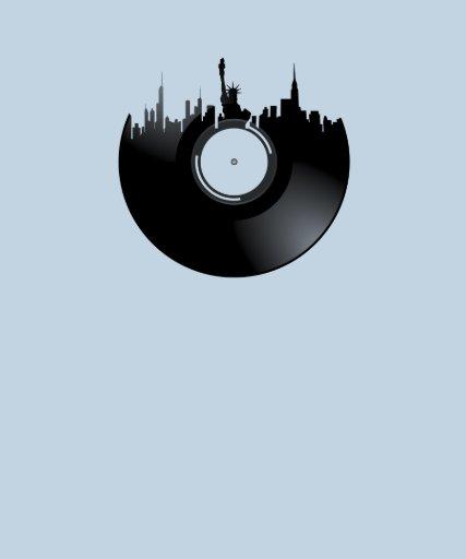 New York City Vinyl Record Tees