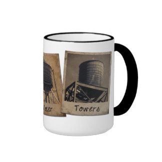 New York City Water Towers Coffee Mugs