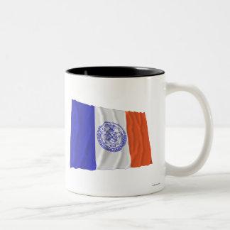 New York City Waving Flag Coffee Mugs