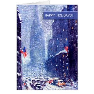 New York City.Winter. Customizable Christmas Cards
