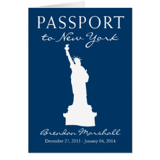 New York City Winter Holiday Passport Note Card