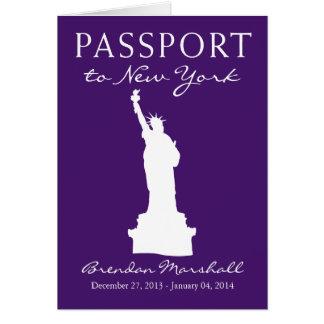 New York City Winter Holiday Passport Note Card
