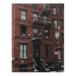 New York City Winter Snowstorm Christmas Hanukkah Postcard