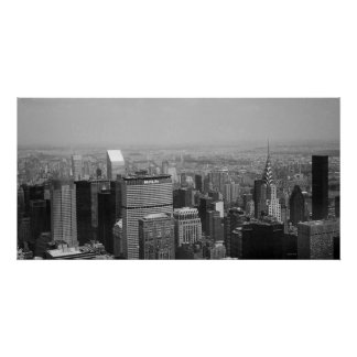 New York City with Chrysler Building II Poster