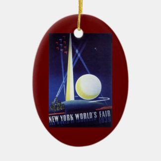 New York City World's Fair in 1939, Vintage Travel Christmas Ornament