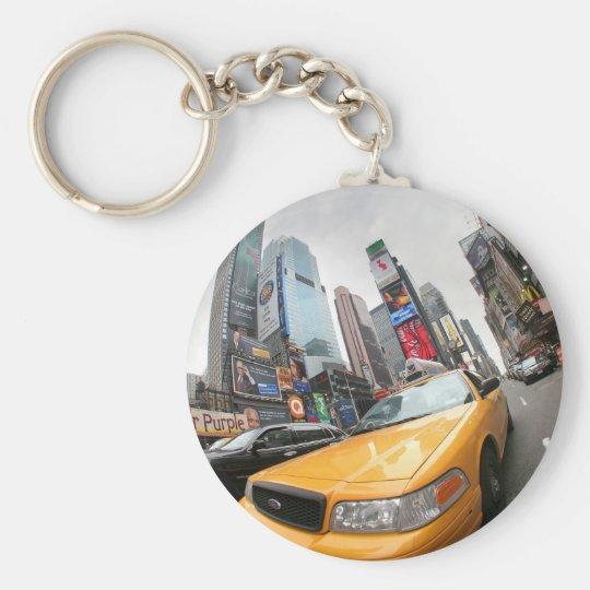 New York City Yellow Cab Basic Round Button Key Ring