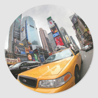 New York City Yellow Cab Classic Round Sticker