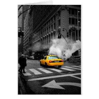 New York City Yellow Cab Greeting Card
