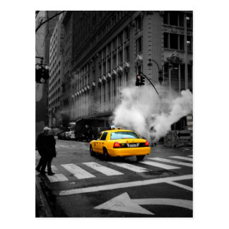 New York City Yellow Cab Postcard