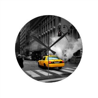 New York City Yellow Cab Round Clock