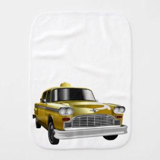 New York City Yellow Vintage Cab Baby Burp Cloths