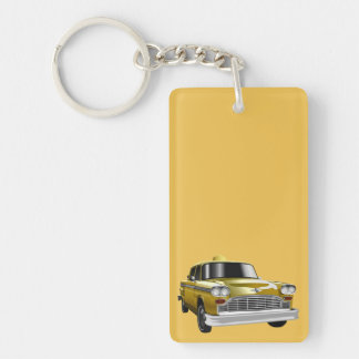 New York City Yellow Vintage Cab Acrylic Keychains
