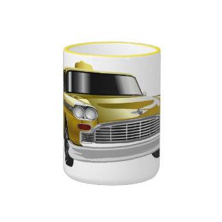 New York City Yellow Vintage Cab Coffee Mugs