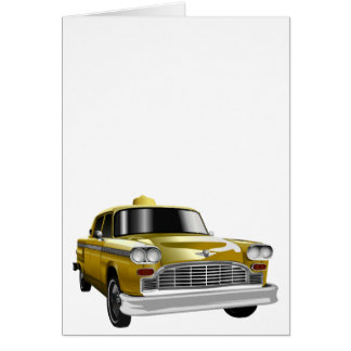 New York City Yellow Vintage Cab Note Card
