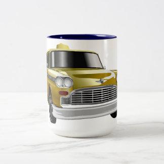 New York City Yellow Vintage Cab Two-Tone Mug