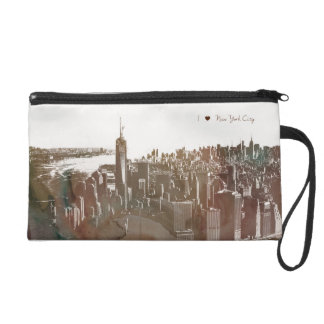 New York Cityscape bag Wristlet Clutch