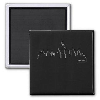 New York cityscape Fridge Magnet