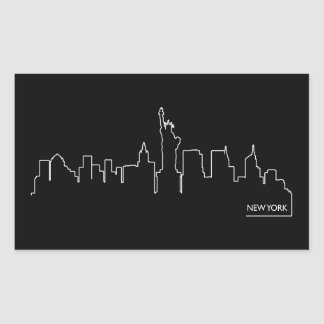 New York cityscape Rectangular Sticker