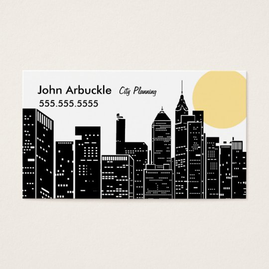 New York Cityscape Skyline Business Card