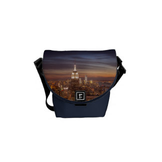 New York Cityscape Skyline - Skyscrapers at Sunset Courier Bags