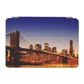 New York cityscape with bridge over river iPad Mini Cover