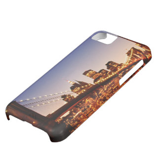 New York cityscape with bridge over river iPhone 5C Case