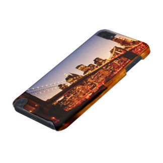 New York cityscape with bridge over river iPod Touch (5th Generation) Case