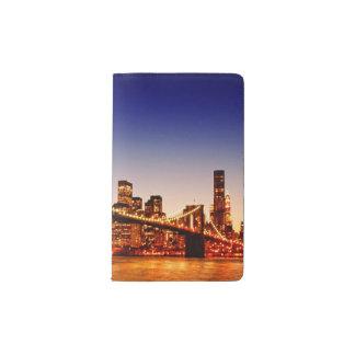 New York cityscape with bridge over river Pocket Moleskine Notebook