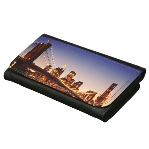 New York cityscape with bridge over river Wallet