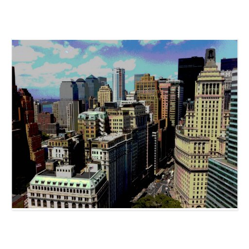 New York Colorized Post Card