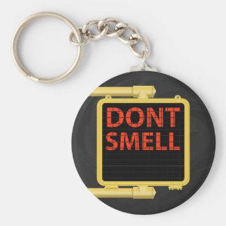 New York Crosswalk Sign Smell Basic Round Button Key Ring