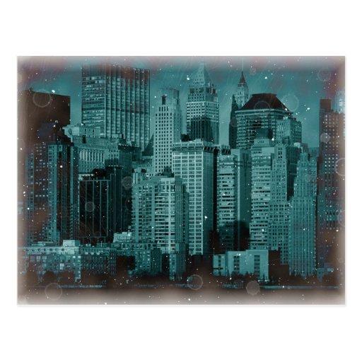 New York - Damaged Photo Effect Postcards