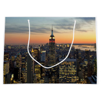New York dawn skyline Large Gift Bag