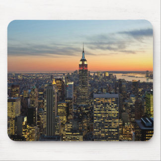 New York dawn skyline Mouse Pad