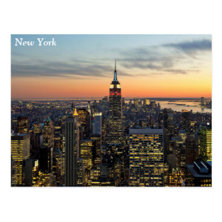 New York dawn skyline Postcard
