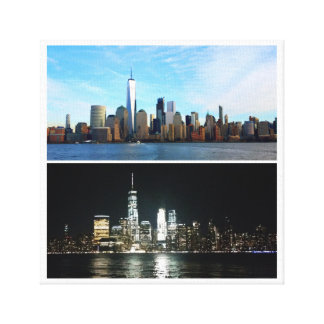 New York Day and Night Canvas Print