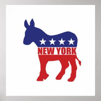 New York Democrat Donkey Poster