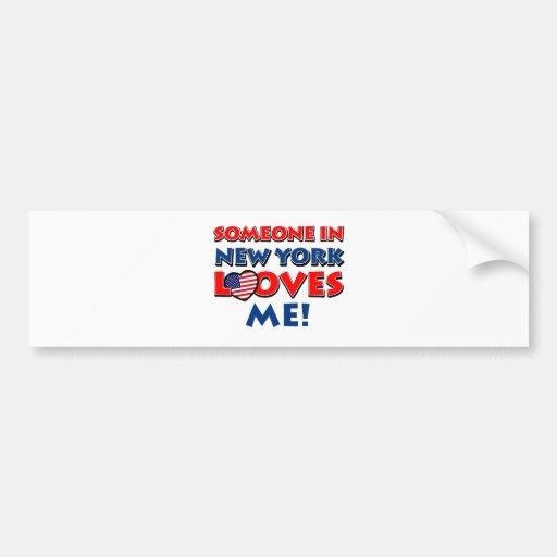 NEW YORK designs Bumper Stickers