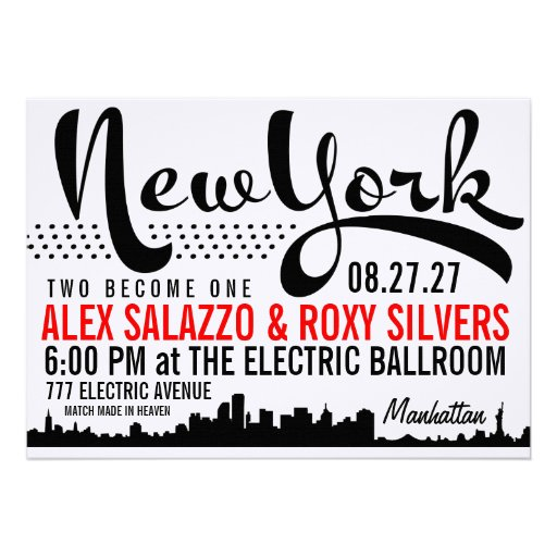 NEW YORK Destination Invitation