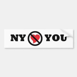 New York Doesn't Love You Bumper Sticker