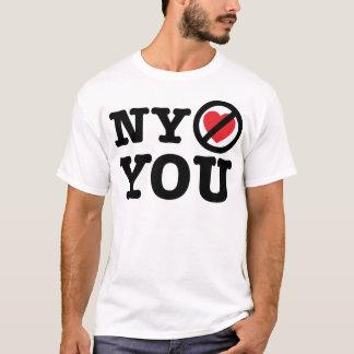 new york doesn't love you i love ny parody T-Shirt
