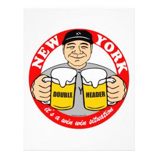 NEW YORK DOUBLE HEADER CUSTOM FLYER